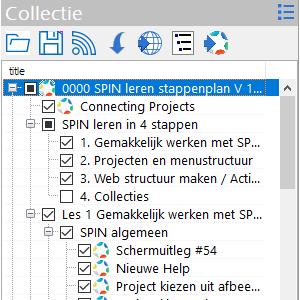 Exporteren van collectie als html  in  browser