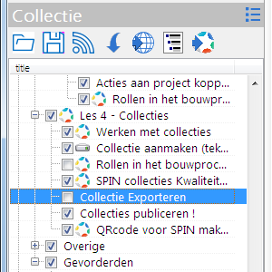 Collectie Exporteren