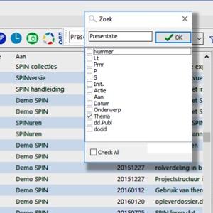 Datatabel filteren op specifieke velden