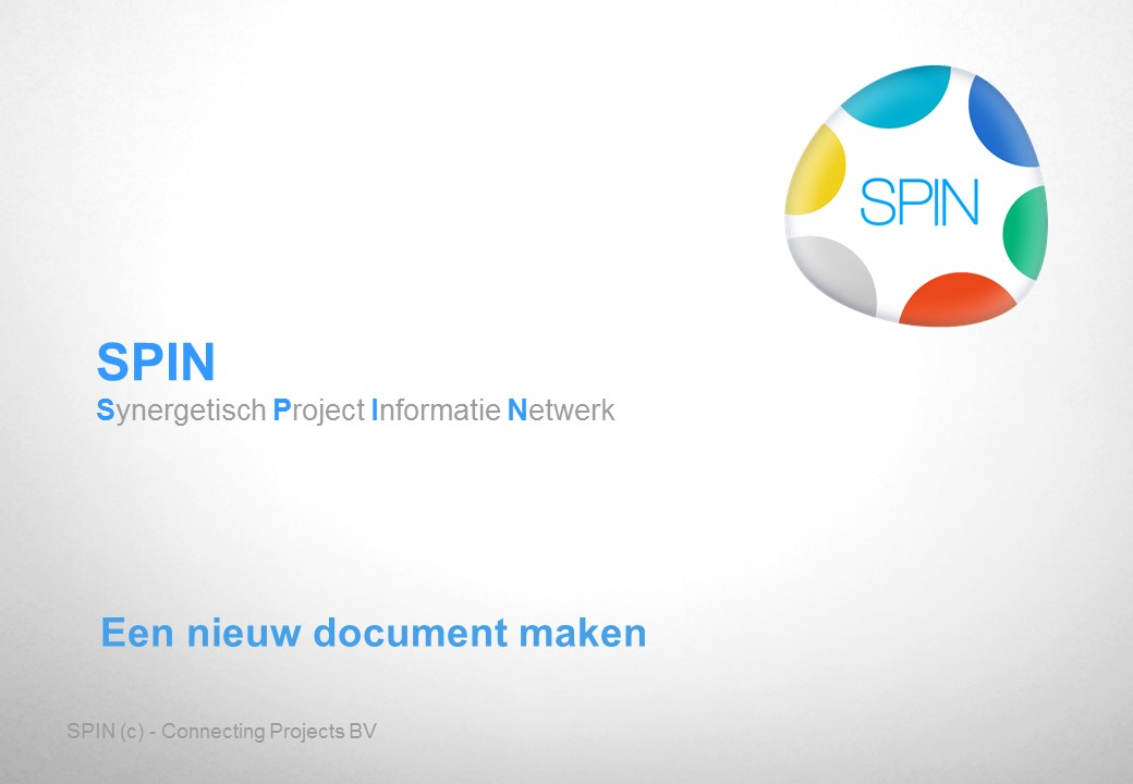 Een nieuw document maken (brief)