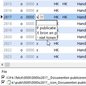 Documenten publiceren (P/X/-) Wissel locatie #34 ( deze locatie of bij les 2?)